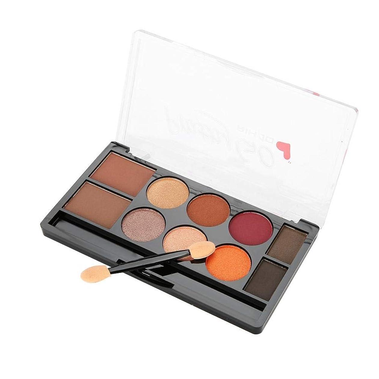 デッド特権バレルマットアイシャドー、眉毛粉 プロフェッショナルアイシャドウパールパレット化粧品メイクアップセット10色(1#)