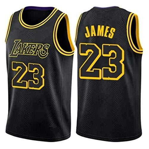 WSWZ Maglia da Uomo NBA - Los Angeles Lakers 23# Lebron James Maglie da Basket NBA - Gilet Casual Unisex Magliette Sportive Magliette Senza Maniche,A,M(170~175CM/65~75KG)