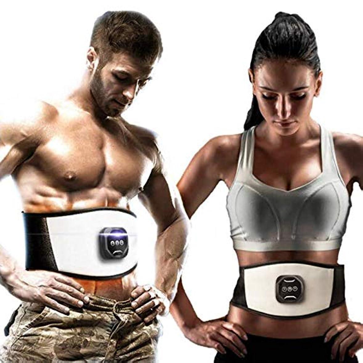 敬意を表する委任熱望する腹部スリミング調整PUベルト電子筋刺激トーニングウエストトレーナー損失重量脂肪ボディマッサージ