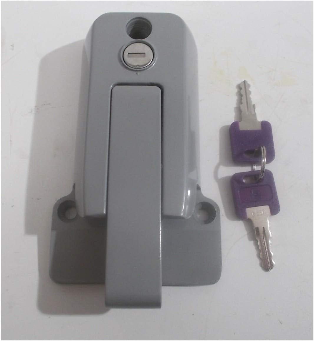 2 - KA - Locking Cargo Trailer Cambar Door Latch Vise Lock Cam B
