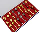 Fairy Tail Key 18 Golden Zodiac Keys Lucy Natsu Happy Prop Accessories
