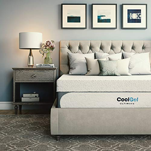 Classic Brands Cool Gel 1.0 Ultimate Gel Memory Foam 14-Inch Mattress with Bonus Pillow, Full
