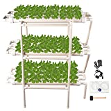 Hydroponic Grow Kit 108 Plant Sites 12 Pipes 3 Layers Hydroponic Planting Equipment Ebb and Flow Deep Water Culture Balcony Garden System Vegetable Tool Grow Kit