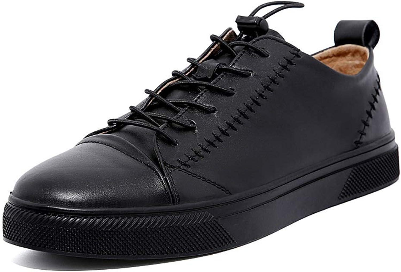 Easy Go Shopping Sportschuhe für Mnner Freizeit Turnschuhe Lace Up weiches echtes Leder Anti-Rutsch verschleifest,Grille Schuhe