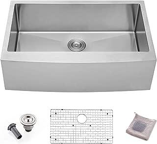 Bokaiya 33 Farmhouse Apron Front Sink Commercial 16 Gauge Undermount Deep Drop In Single Bowl Kitchen Sink, Stainless Steel