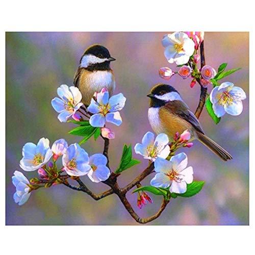 Yingxin34 Rompecabezas 2000 Piezas para Adultos Dos pájaros en la Rama Rompecabezas Personalizados 2000 Piezas 100x70cm
