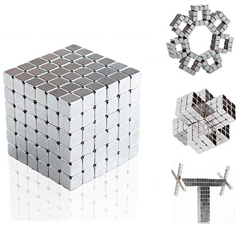 Magnetic Cube, EJOYFL 5mm 216pcs Magnet Sculpture Blocks Cubes Intelligence Learning Blocks Office Toys and Stress Relief for Adults