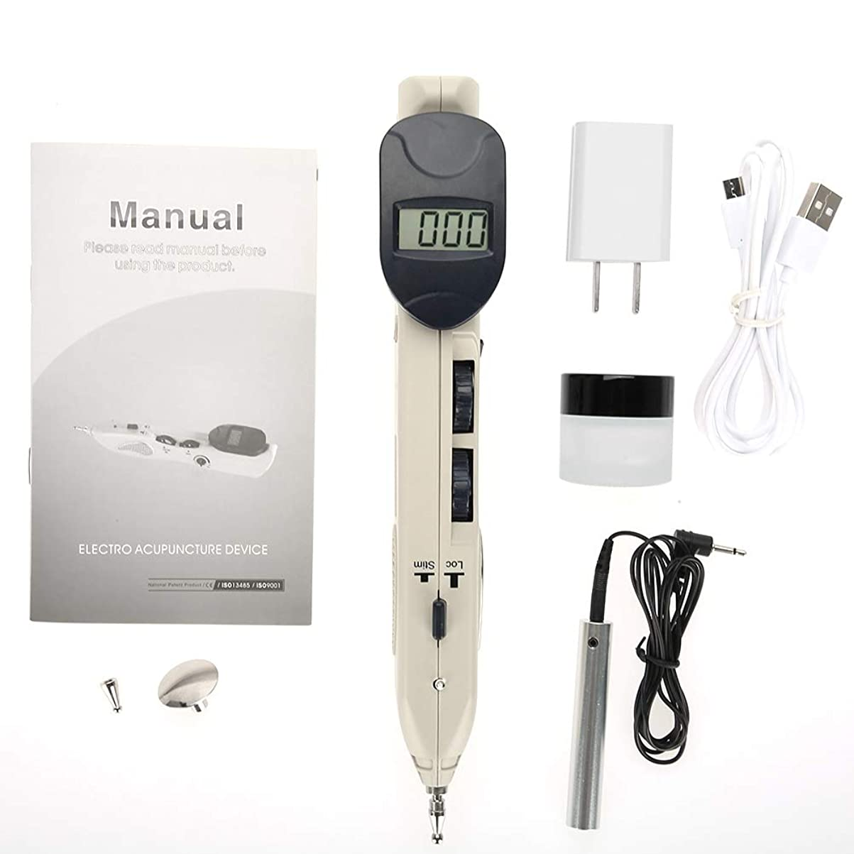 ベッドを作る銀河バックグラウンドツボ押し グッズ 電子鍼ペン 背中 腰 電子鍼治療装置 ヘルスケアペン