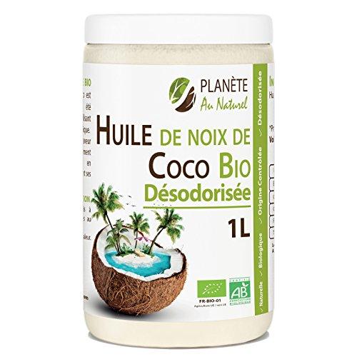 Huile de Coco Bio Dsodorise - 1L - Sans Odeur