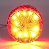 LTE-5061 Luz de emergencia LED Mini baliza LED de advertencia Luz de baliza estroboscópica intermitente para construcción de camiones Coche AC 220V