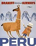 guyfam Peru Vintage Travel Poster