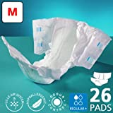 Lilfit Healthcare Supreme Fit All-in-One Briefs, Pack of 20, Regular +, Medium, Adult Diapers for Men and Women, Incontinence Pants with Anti-Leak Barriers for Hygienic Use, Absorbent Undergarments