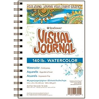 "Strathmore 460-55 400 Series Visual Watercolor Journal, 140 LB Cold Press, 5.5""x8"", 22 Sheets"