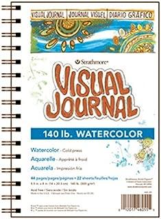 Strathmore (460-55) 400 Series Visual Watercolor Journal,  140 LB Cold Press,  5.5x8,  22 Sheets