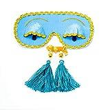 Audrey Hepburn Sleeping Mask with Earplugs, Tassels Earplugs Set, Holly Golightly Handmade Sleep Mask with Eyelashes, Breakfast at Tiffany's Eye Mask, Breakfast at Tiffany's Party Supplies