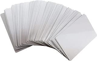100pcs Sliver Sublimation Metal Business Cards Laser Engraved Metal Business Cards Sublimation Blanks 3.4x2.1in Thicknes (0.30mm) (Sliver)