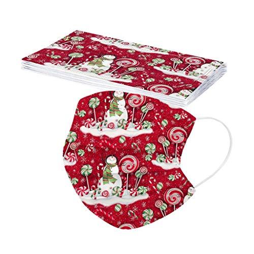10/20/30/40/50/100 Piezas Desechable Niño Dibujos Santa claus Navidad Protección personal...