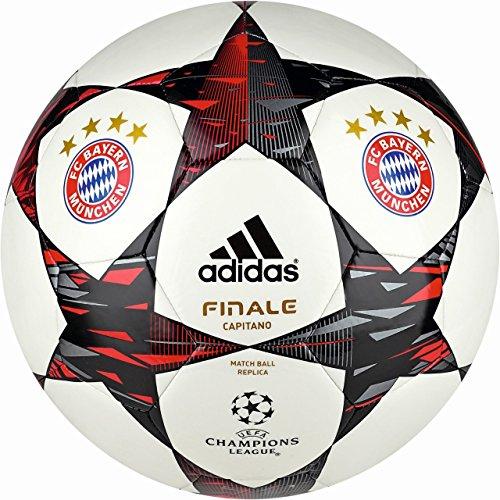 adidas Fußball Finale 2014 FC Bayern München Capitano, White/Poppy/Black, 5