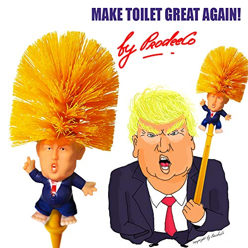 ProdeeCo Donald Trump Toilet Brush with Legs, Trump Toilet Scrubber, Make Toilet Great Again, Funniest Political Gag Gift
