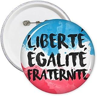 DIYthinker Liberte Egalite Fraternite France Mark Landmark Drapeau National personnalisés Paysage Illustration Motif Rond ...