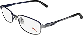 15409 Mens/Womens/Teens Flexible Hinges TIGHT-FIT Designed For Jogging/Cycling/Sports Activities Eyeglasses/Glasses (49-17-130, Gray / Blue)