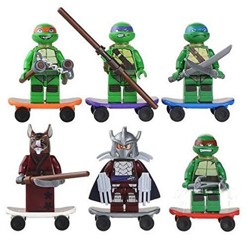 Toy Marvel Vengadores Superhéroes Batman, Spiderman, Wolverine, Hulk Mini, Sonic el erizo, figuras de Ninja de tortuga mutante, ajuste Lego (juego I - (6 juguetes)
