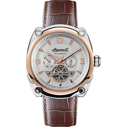Ingersoll Men's The Michigan Automatic Watch with Brown Dial and Brown Leather Strap I01103B