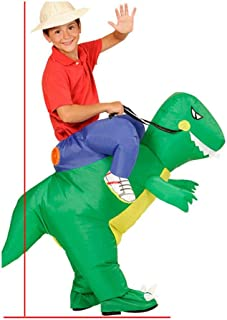 Inflatable Saur Costume Halloween Christmas Party Cosplay Outfit Air Blown Suit Kid Carnival Dress Clothes