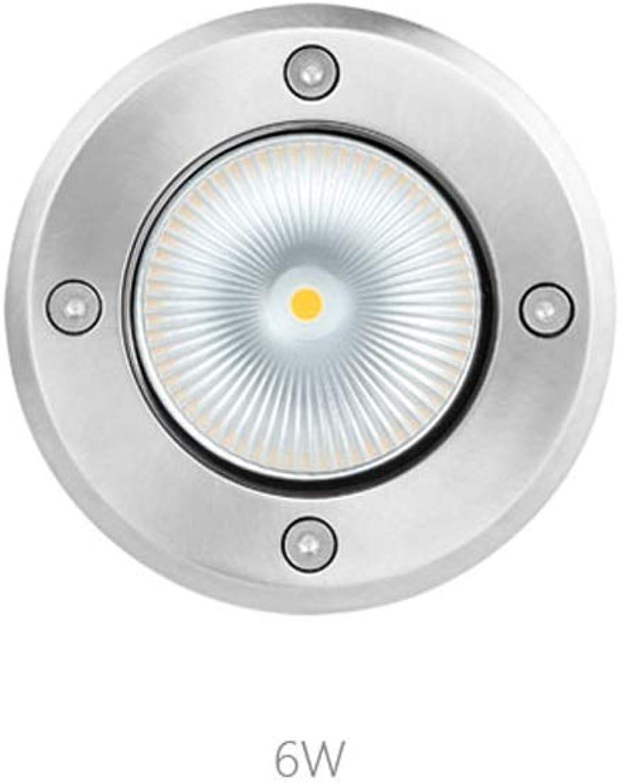 Led Spots,LED 304 Rostfrei Stehlen Draussen Wasserdicht IP67 Gang Garten Eingebettet Fuboden Lampe (Größe   6W)