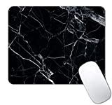 IMAYONDIA Rectangle Mouse Pad Marble,Black Marbling Mouse Pads,Gaming Mouse Mat for Office Laptop Computer Men and Women, Custom Designs Waterproof Non-Slip Rubber Base Mousepad