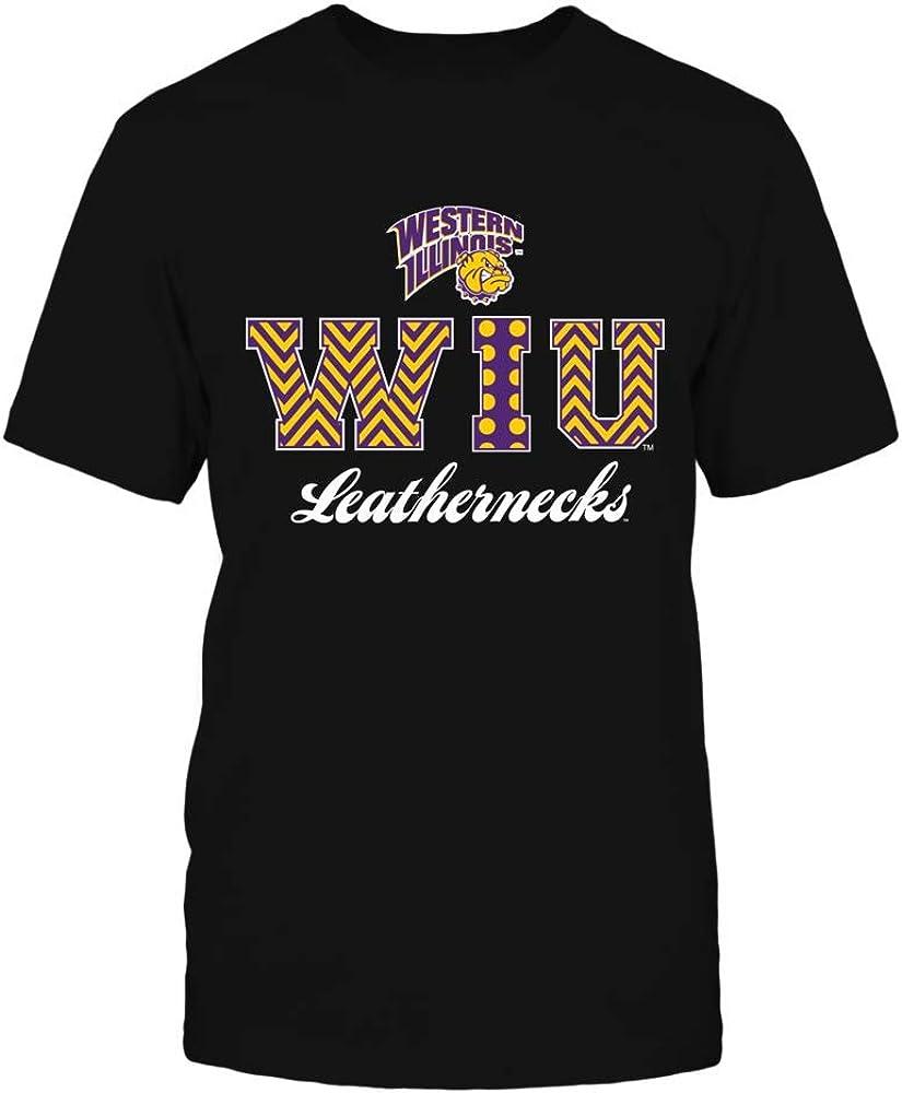 FanPrint Western Cheap bargain Illinois Leathernecks low-pricing T-Shirt - Lette Patterned