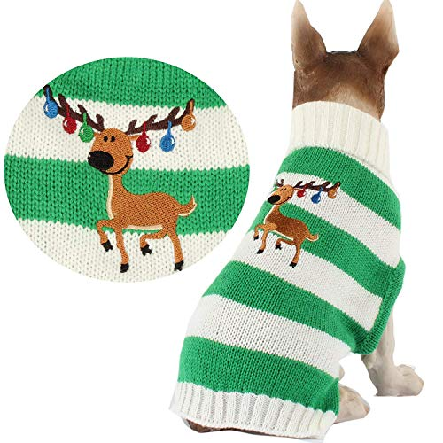 HAPEE Christmas Dog Sweater with Elk,Pet Cat...