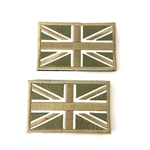 2 Parches Velcro x Reino Unido Inglaterra Emblema Gran...