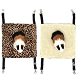EONMIR 2Pack Guinea Pig Hammock, Small Animal Hanging Bed Toys fit Rats,...
