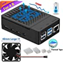 iUniker Raspberry Pi 4 Case with Cooling Fan & 4-Piece Heatsink