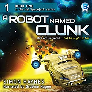 A Robot Named Clunk audiobook cover art