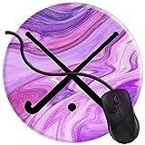 QCFW Alfombrilla de Ratón Palos de Jugador de Hockey sobre césped púrpura Rosa mármol Alfombrilla de Ratón Ordenador Gaming Superficie Suave 2T2222