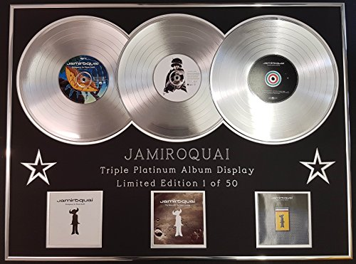EC Jamiroquai/Dreifach-Platin Album Anzeigen/Limitierte Edition/Emergency on Planet Earth + Return of The Space Cowboy + TR