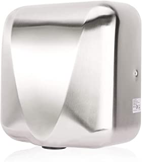 VALENS Hand Dryer Commercial for Bathroom, Automatic Hand Dryers 224 mph with HEPA Filter, High Speed 1800W, Hot or Cold Air Available, Brushed Silver (1 pc)