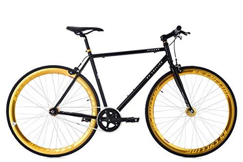 """KS Cycling Fixie Fitnessbike 28"""" Pegado schwarz-Gold RH 59 cm"""