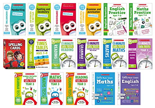 Workbooks and Practice Pack for Ages 7-8 (Year 3) with Scholastic's...