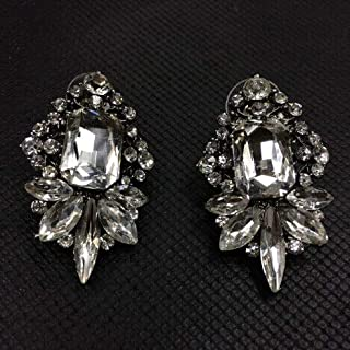 2016 New Arrival Big Clear Crystal shourouk Stud Earrings for Women Girl Party Earring Factory Price Earring Wholesale
