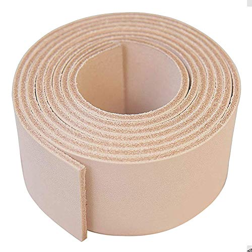 """Leather Strap Natural 1/2"""" Inch to 4"""" Wide, 60-70 Inches Long by Sepici (Heavy Weight) (1-1/2"""")"""