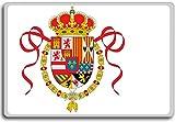 Etiquette's Naval Ensign (1701-1748), Historic Flags of Spain fridge magnet - Calamita da frigo