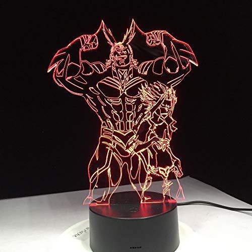 Jiushixw 3D-nachtlampje van acryl, met afstandsbediening, kleurverandering, tafellamp, film, actie, sterke draak, cadeau, boot, meerkleurig, tafellamp antiek