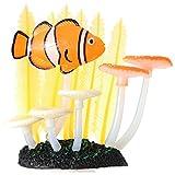 DaMohony Plantas de agua luminosas artificiales para acuarios subacuáticos y jardines