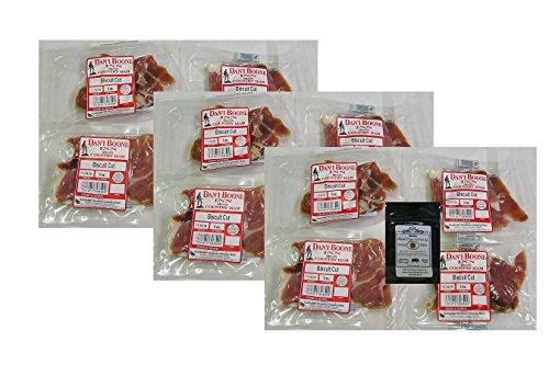 Dan'l Boone Country Ham 3oz Biscuit Cuts 12 Pack