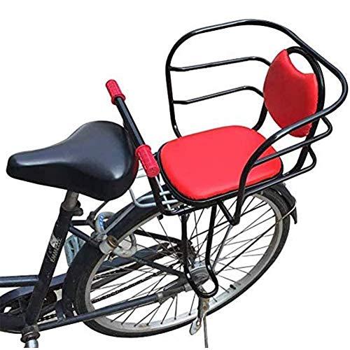 Asiento De Bicicleta para Niños Trasero, Silla De Bicicleta para Niños con Asa Y Pedal para Bicicleta De Montaña Asiento De Seguridad para Bicicleta De Niño para Niños De 2,5 A 8 Años