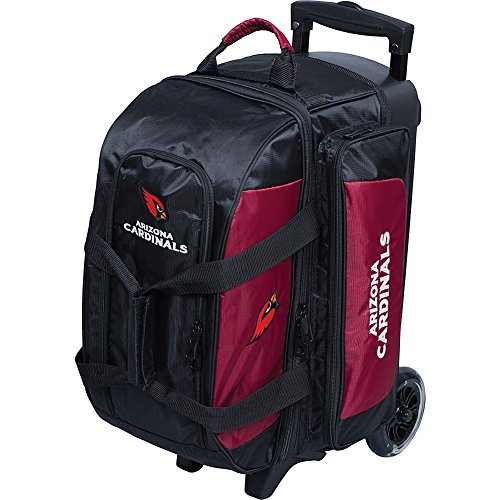 fx bowling bags Strikeforce Bowling NFL Two Ball Bowling Roller Bag with Ball, Shoe and Accessory Pockets