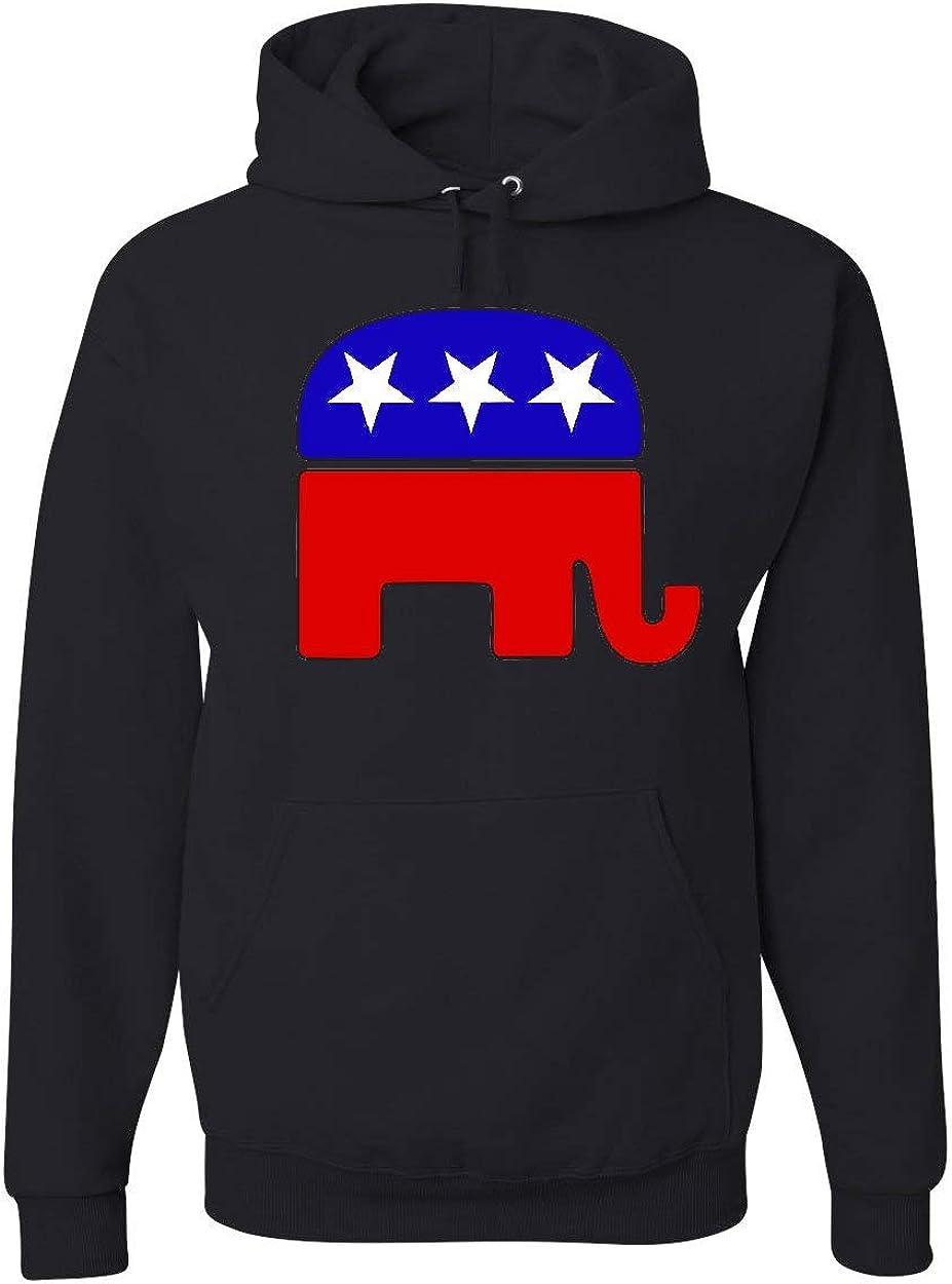 Tee Hunt Republican Party Elephant Political Conserv Logo Hoodie 期間限定お試し価格 出荷